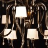 Impero Collection dark smoky mirrored 25 lights - Detail