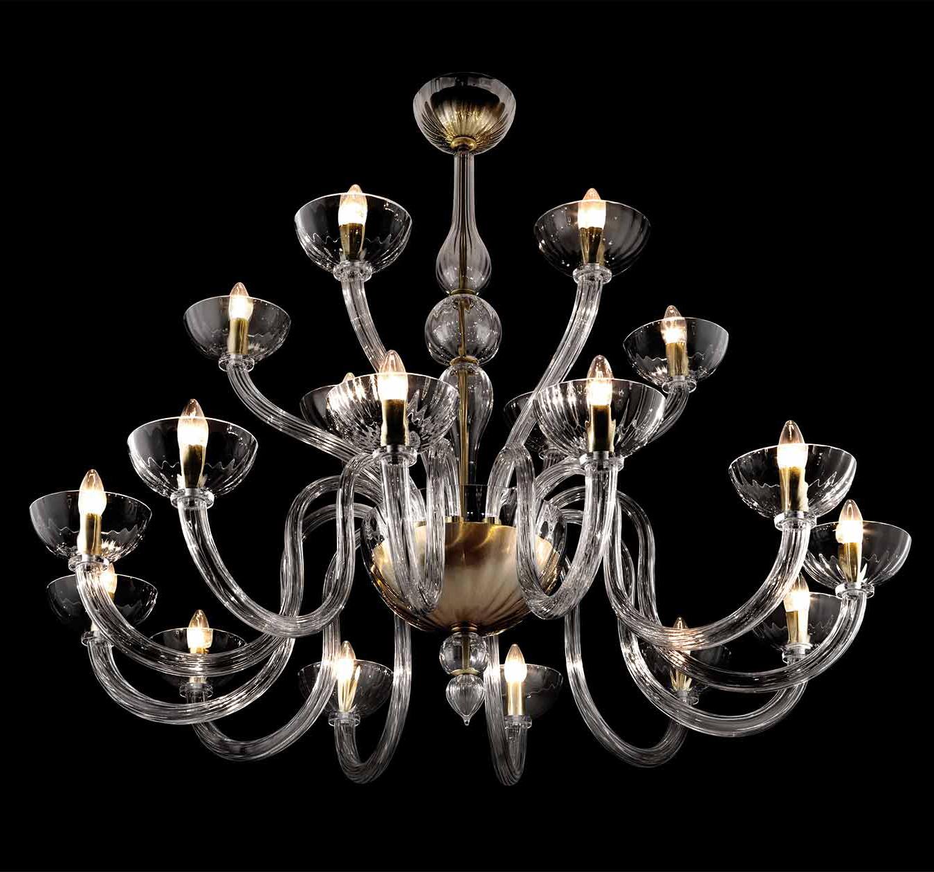 Big lampadario moderno in vetro di murano soffiato lucevetro for Lampadario vetro murano moderni