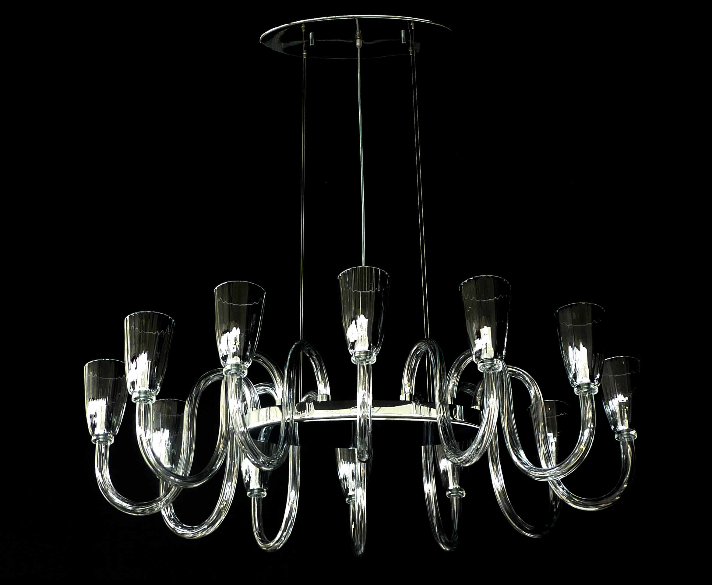 Palladio modern chandelier murano blown glass lucevetro
