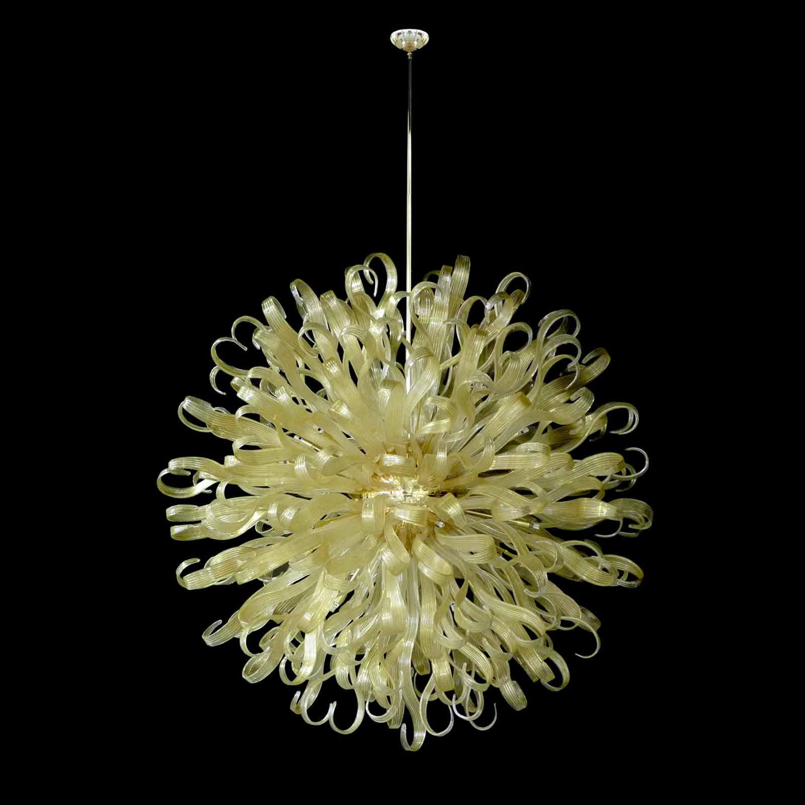 Ducale modern chandelier Murano blown glass   Lucevetro