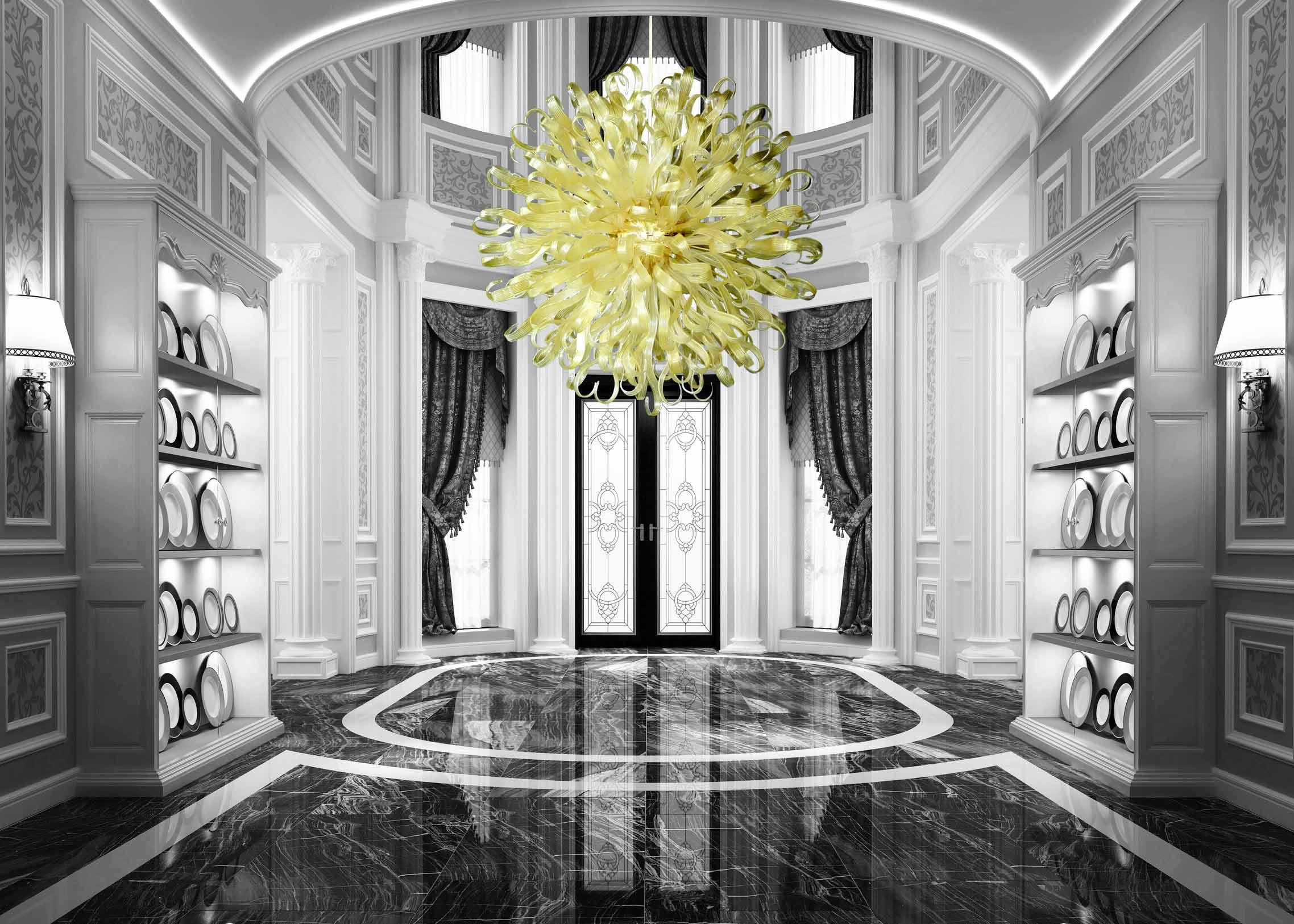 Plafoniera Moderna Vetro Murano : Ducale lampadario moderno in vetro soffiato di murano lucevetro