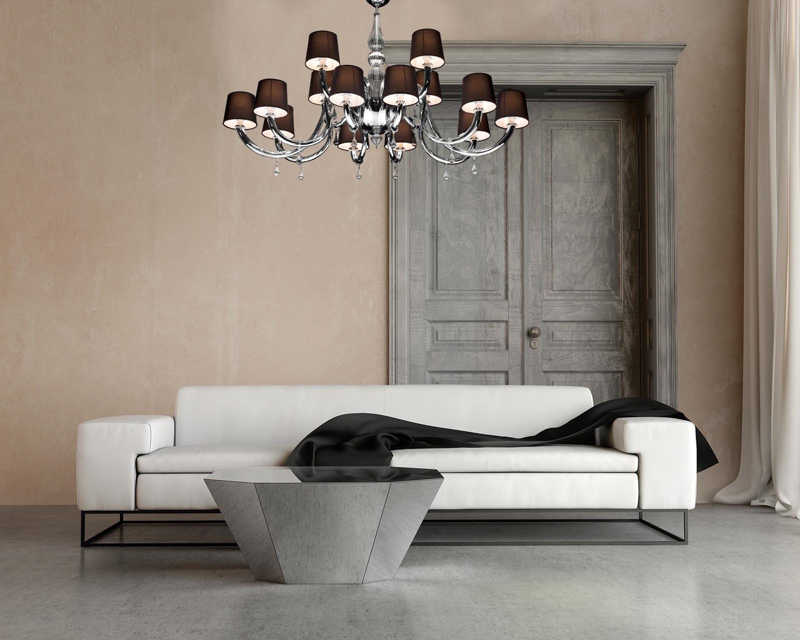 Tiepolo lampadario moderno in vetro di murano soffiato for Lampadario vetro murano moderni