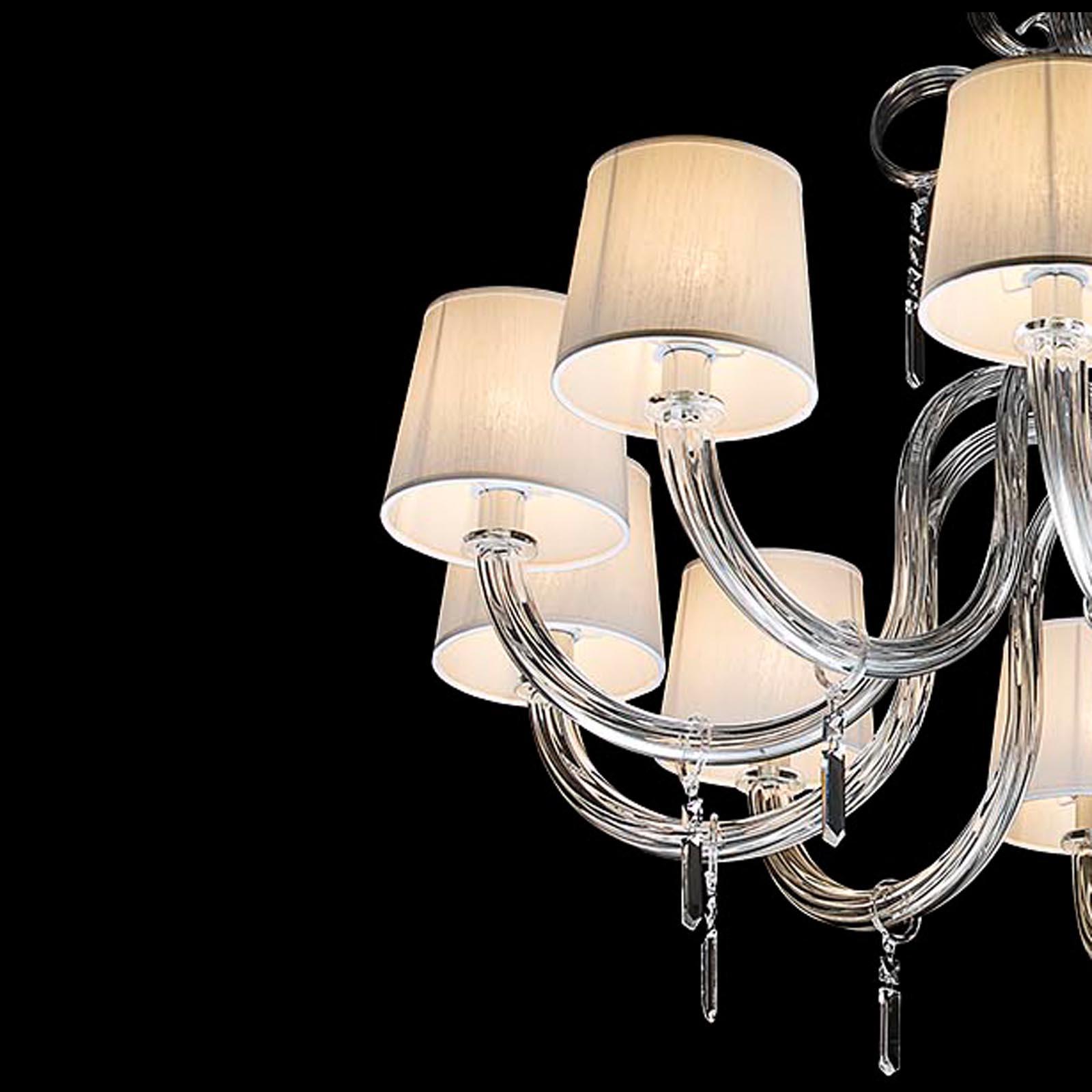 Gritti modern chandelier Murano blown glass